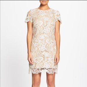 Dress the Population Anna Lace Dress XS Ivory/Nude